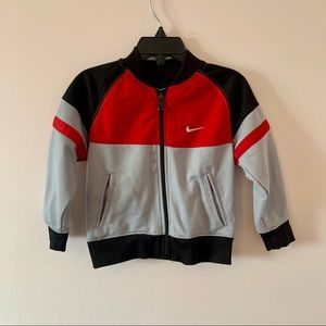 Nike red and grey jacket size 2T